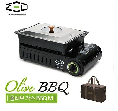 ZED Olive BBQ Gas Stove(M) Diamond Coating Burner for Camping Fishing Hiking