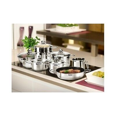 Induction Hob Pans Set Karcher Jette 14 Piece Stainless Steel Cookware Pots Pan