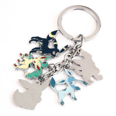 Pokemon UMBREON GLACEON Eevee Sylveon Keychain Key Chain Keyring Pendant