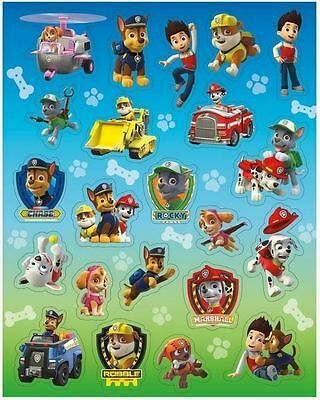 88 Paw Patrol Stickers Children Birthday Party Loot Bag Fillers 4 Sheets