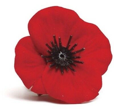 Material Red Poppy  Remembrance Day - Memorial Day Lapel Badge 45mm