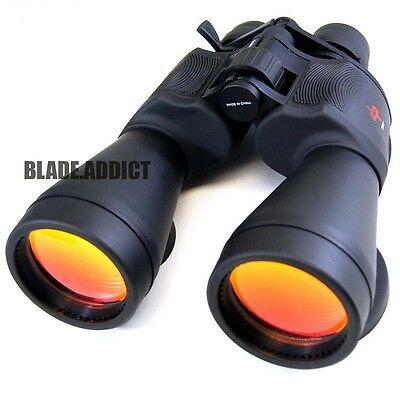 Day / Night 20-50x70 Military Zoom Powerful Binoculars Optics Hunting Camping