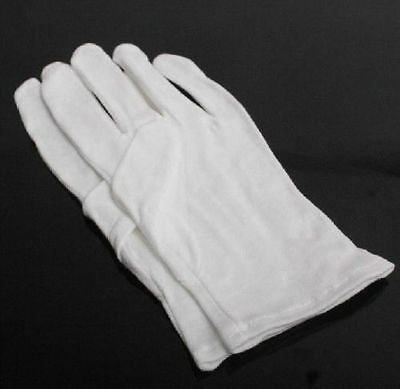 10 PCS White Cotton Gloves for Housework Workers Jewelry Craft Making