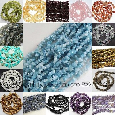 Natural 5-8mm Freeform Chips Jewelry Making loose gemstone beads strand 16""