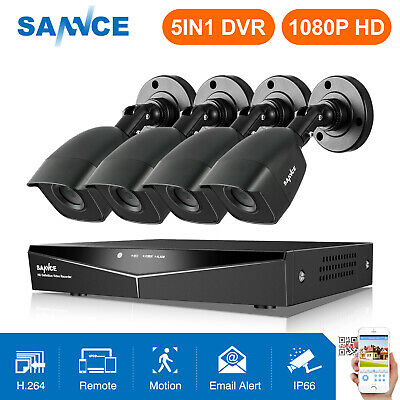 SANNCE 1080P HDMI DVR 1500TVL Outdoor HD 720P Night CCTV Security Camera System