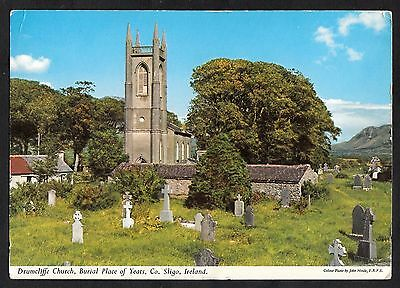 View of Drumcliffe Church, County Sligo, Ireland. Stamp/postmark 1966