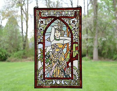 "20"" x 34"" Alphonse Mucha Daytime ART, Stained Glass Window Panel"