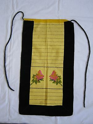 Antique Hand Woven Embroidered Bulgarian Folk costume Apron
