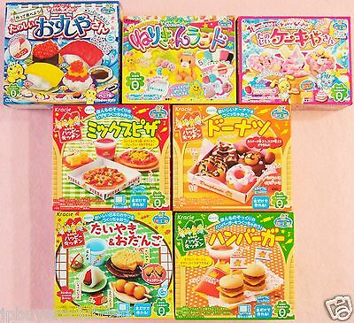 Kracie Popin Cookin Happy Kitchen 7 Pieces Japanese Candy Sushi Hamburger Gift