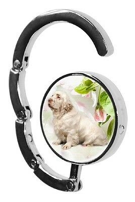 Clumber Spaniel Dog Table Bag Handbag Purse Hanger Hook-1 by paws2print