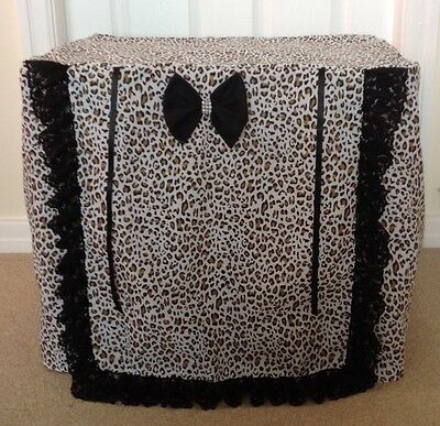 Puppy / Dog Crate Cage Cover / Leopard Print Cover / Made To Order.
