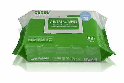Clinell Universal Sanitising Disinfectant Wipes - Range of Pack Sizes & Types