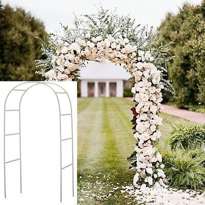 7 5 Ft White Metal Arch Wedding Garden Shower Decoration Party