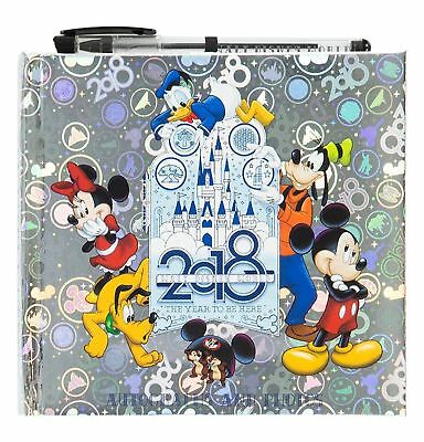 NEW 2018 Walt Disney World Parks Autograph and Photograph Album Book with Pen