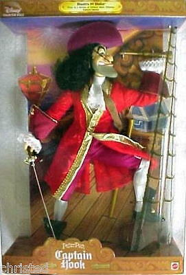 Disney Captain Hook Doll of Peter Pan Masters of  Malice NRFB 1999 1st #20954