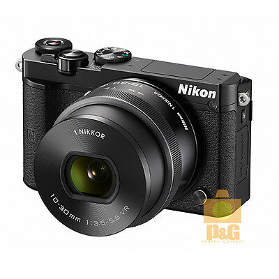 NEW BOXED NIKON 1 J5 CAMERA + VR 10-30mm F/3.5-5.6 PD LENS KIT / BLACK