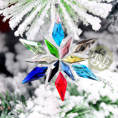 New Colorful Suncatcher Star Crystal Ornament Prism Wedding Party Decor Gift