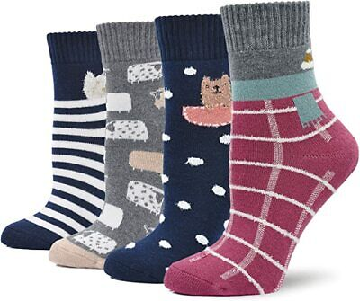 Womens-Ladies Thermal Winter Warm Design Thermal Boot Hike Outdoor Snow Socks
