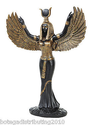 Modern Isis Egyptian Goddess Of Wisdom Statue Black Gold Figurine
