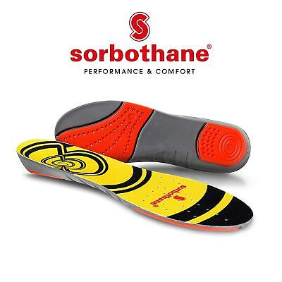 Sorbothane DOUBLE STRIKE Insoles Shock Stopper- 100% Impact Protection, Premium