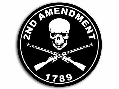 4x4 inch ROUND 2nd Amendment 1789 Sticker - decal gun ammo nra second rights us