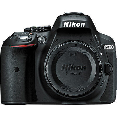 Nikon D5300 24.2 MP DX-Format Digital SLR Camera - Black (Body only) EXPEED NEW