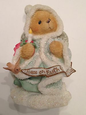 Cherished Teddies Angela Angel Holding Candle Figurine Excellent Cond. 175986