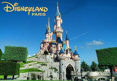 DISNEYLAND PARIS FRANCE - Travel Souvenir Fridge Magnet 2 #fm84