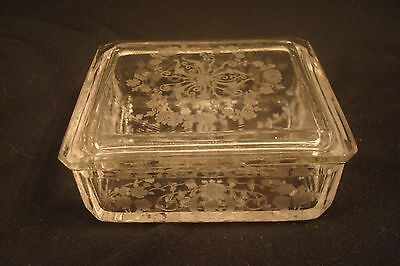 "Diane 3 1/4"" x 2 3/4"" Rectangle Covered Box, Trinket, Cigarette, Beautiful Piece"