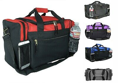 Kids Size Duffle Duffel Bag Travel Gym Bag Carry-On Red Black Blue Gold Gray 17""