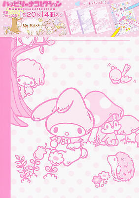 Sanrio My Melody 4 x Notebooks with Covers to Colour In