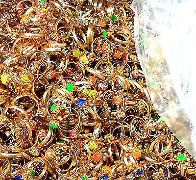 999 pc gold color Girl RINGS BULK VENDING TOYS BIRTHDAY PARTY FAVORS WHOLESALES
