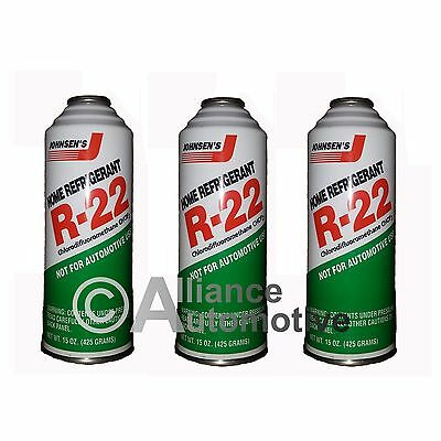 3 - 15oz Cans of R-22 Refrigerant Home AC Air Conditioning
