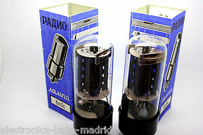 REFLECTOR 6п3с 6P3S = 6L6GT 6L6 STRONG MATCHED PAIR VACUUM TUBES