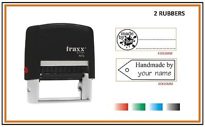 Self Inking Rubber Stamp 9012 HANDMADE BY ME 2x Rubbers Stock INK Colours