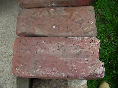 Rare Antique 1920's Lot of Two Metropolitan Canton Block Paver Bricks