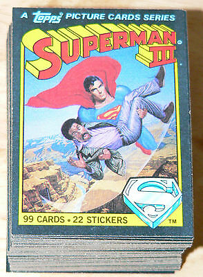 1983 Superman III - Superman 3 - Complete 99 card set - No stickers