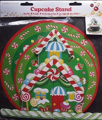 Cupcake Stand      Christmas       Pack Of 1        Brand New