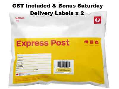 10 x 3kg Express Satchel Aus Post Prepaid with Tracking & Sat Delivery GST inc