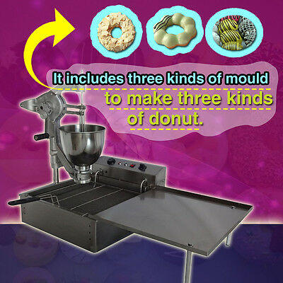 Commercial Manual Breakwater donut ball Donut Fryer Maker Making Machine,3 molds