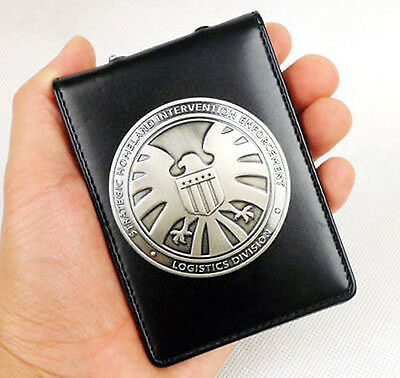 Agents of shield S.H.I.E.L.D. Metal SHIELD Badge Pin & ID Holder Case Wallet