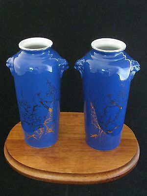 Very Rare Pair of Chinese Blue Vases