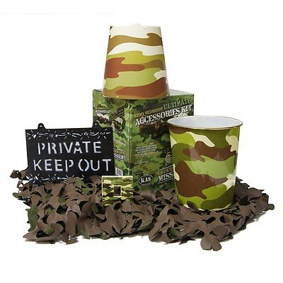 Army Bedroom 5pcs ULTIMATE Accessories Kit - Kids Army Camouflage Bedroom Ideas