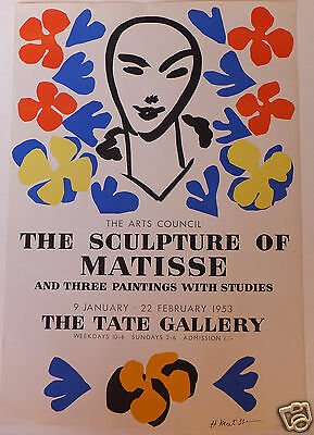 Matisse Mourlot affiche poster Tate gallery 1953