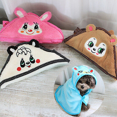 Cute Bear Animal Design Nightgown Bathrobe Super Absorbent Towel for Dogs Cats