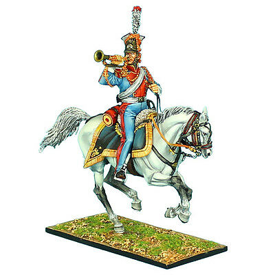"""NAP0419 2nd Dutch """"Red"""" Lancers of the Imperial Guard Trumpeter by First Legion"""