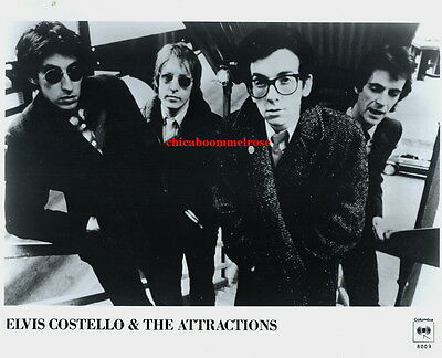 Elvis Costello & the Attractions 1980 press photo in mint condition