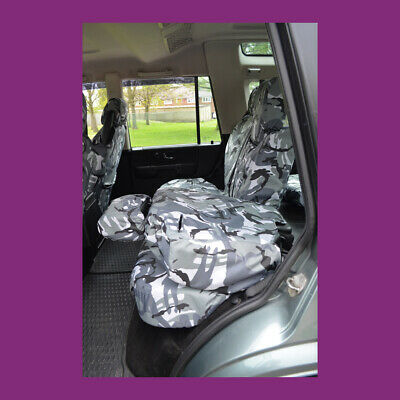 Land Rover Discovery Series 2 Tailored Waterproof Grey Camo Rear Seat Covers