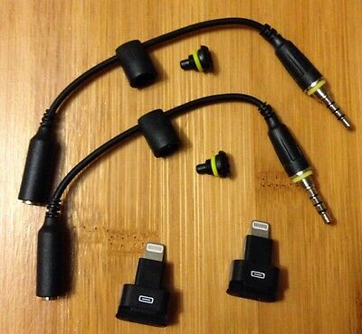2 Iphone 5 5s 6 LifeProof Audio Adapter Cable,Blk Dock Extender+Jack Plug.
