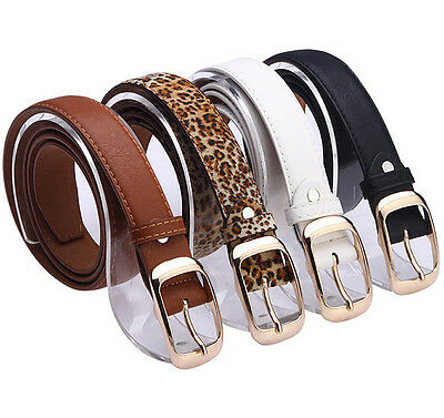 Hot Womens Lady Paint Leather Alloy Pin Buckle Waist Strap Belts Waistband SH